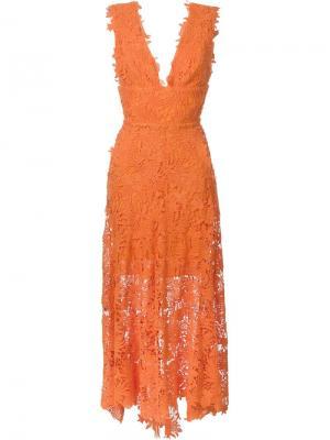 Платье Caspia Maria Lucia Hohan. Цвет: жёлтый и оранжевый