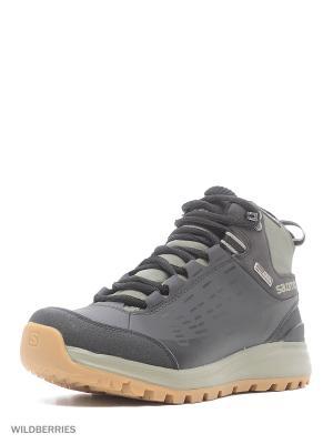 Ботинки SHOES KAIPO CS WP 2 SALOMON. Цвет: черный, серо-коричневый