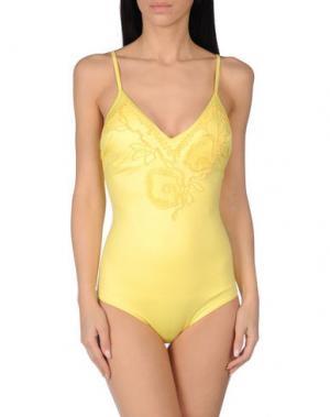 Слитный купальник EMAMÒ. Цвет: желтый
