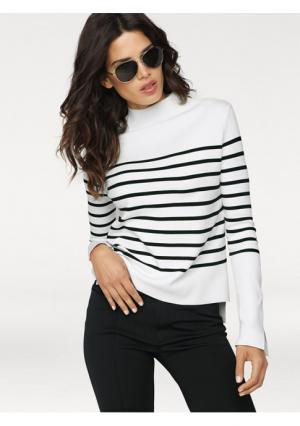 Пуловер B.C. BEST CONNECTIONS by Heine. Цвет: бежевый/белый, белый/черный, голубой/белый, малиновый/белый, светло-серый/белый, черный/белый