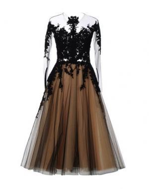Платье длиной 3/4 RHEA COSTA. Цвет: черный