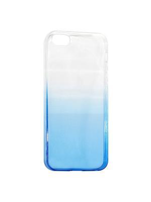 Крышка задняя для Iphone5/5S/SE Силикон IQ Format. Цвет: синий