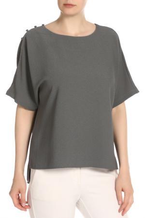 Блузка Vila. Цвет: серый