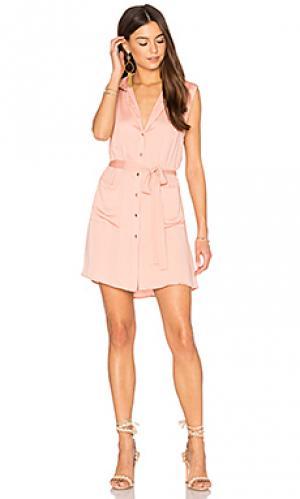 Платье с застёжкой на пуговицы LAcademie L'Academie. Цвет: peach
