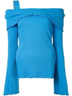 Блузка с открытыми плечами Limozeen Ellery. Цвет: синий