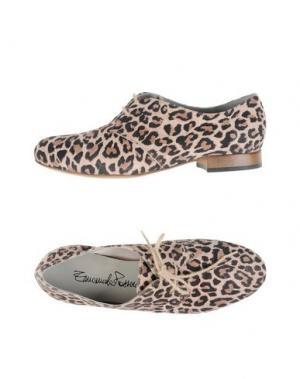 Обувь на шнурках EMANUELA PASSERI. Цвет: голубиный серый
