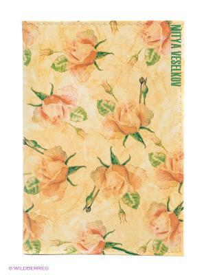 Обложка для автодокументов Чайные розы Mitya Veselkov. Цвет: желтый, зеленый