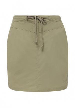 Юбка-шорты Jack Wolfskin. Цвет: зеленый
