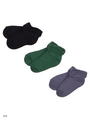 Носки, 3 пары Хох. Цвет: серый, темно-зеленый, черный
