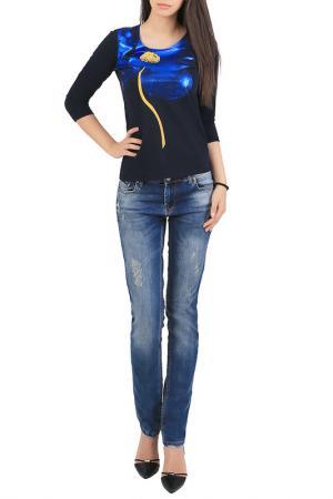 Блуза JUNONA. Цвет: black, blue