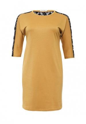 Платье Contraposto. Цвет: желтый
