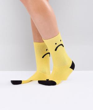 Lazy Oaf Носки Sorry Im Late. Цвет: желтый