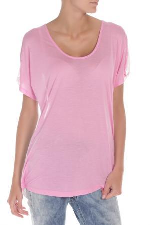 Футболка Replay. Цвет: 010, hot pink, optical white