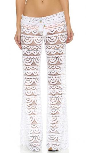 Кружевные брюки Malibu PilyQ. Цвет: белый