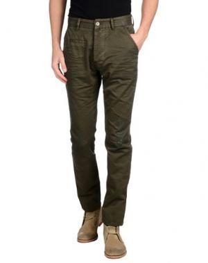 Джинсовые брюки DNM-BRAND. Цвет: зеленый-милитари
