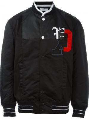 Куртка-бомбер с логотипом Facetasm. Цвет: чёрный