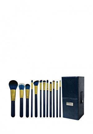 Набор кистей для макияжа Royal&Langnickel. Цвет: синий