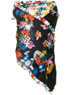 Жилетка-платок Preen By Thornton Bregazzi. Цвет: многоцветный