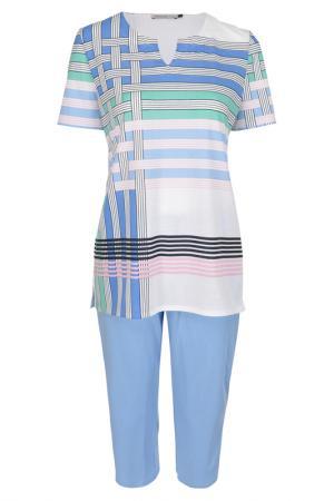 Пижама Feraud. Цвет: white, blue, green