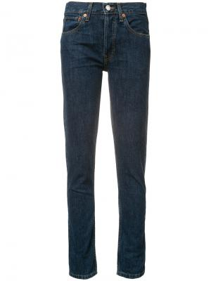 Классические джинсы-скинни Re/Done. Цвет: синий