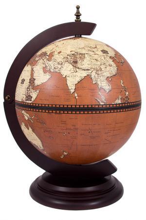 Глобус-бар 33x38x48x33 см Русские подарки. Цвет: оранжевый, белый