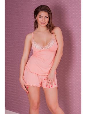Комплект одежды MONTI&FARR. Цвет: коралловый
