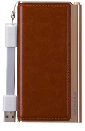 Портативный аккумулятор Elite на 5000 mAh Momax. Цвет: коричневый