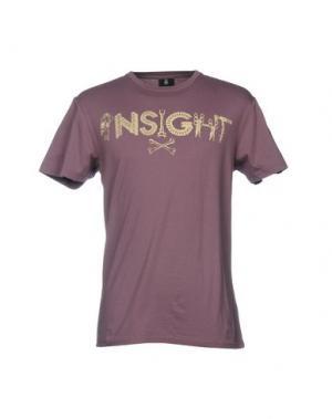 Футболка 0051 INSIGHT. Цвет: розовато-лиловый