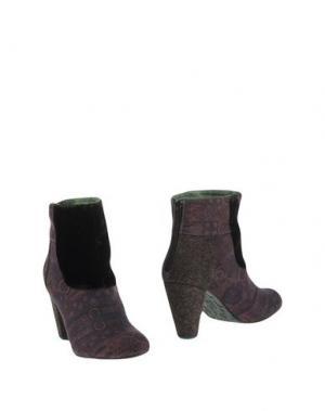 Полусапоги и высокие ботинки DESIGUAL. Цвет: какао