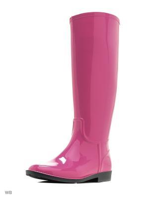 Резиновые сапоги ANRA. Цвет: розовый