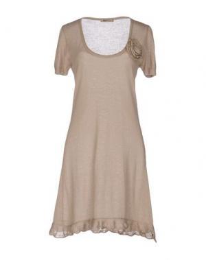 Короткое платье B.YU. Цвет: песочный