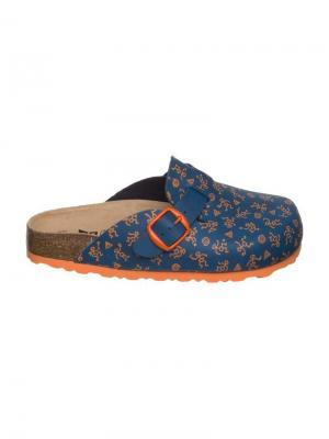 Сабо Lico. Цвет: синий, оранжевый