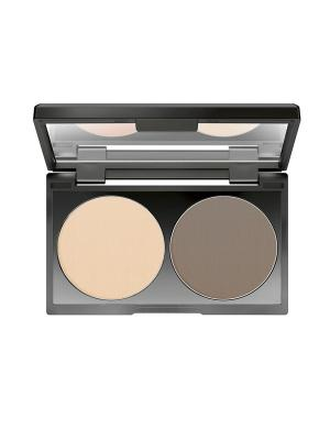 Компактная пудра для контуринга Duo Contouring Powder №15, оттенок чистая умбра Make up factory. Цвет: бежевый, светло-коричневый