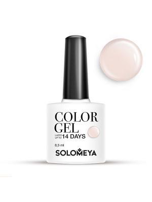 Гель-лак Color Gel Тон Marshmallow SCG164/Зефир SOLOMEYA. Цвет: белый