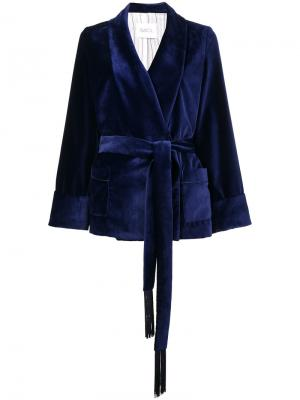 Короткое кимоно с завязкой Racil. Цвет: синий