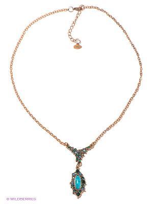 Колье Jenavi. Цвет: голубой, бронзовый
