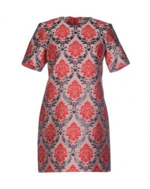 Короткое платье MARY KATRANTZOU. Цвет: светло-розовый