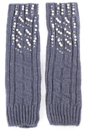 Перчатки-митенки Elisabeth. Цвет: голубой