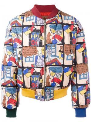 Куртка-бомбер с принтом комиксов Jc De Castelbajac Vintage. Цвет: многоцветный