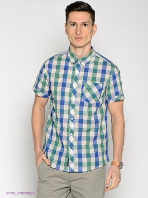 Рубашка Broadway. Цвет: зеленый, синий