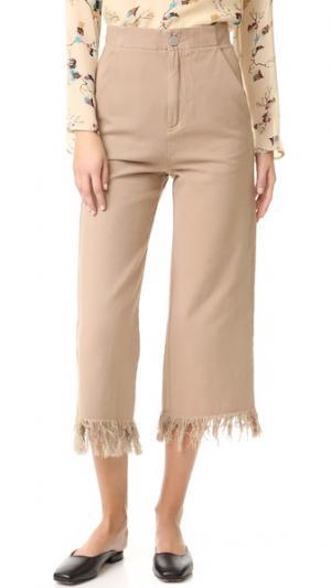 Юбка-брюки с бахромой Run Free Vale. Цвет: верблюжий