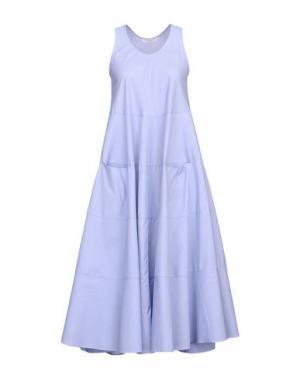 Платье длиной 3/4 GUGLIELMINOTTI. Цвет: синий