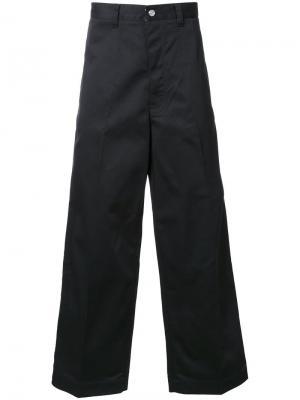 Широкие брюки Facetasm. Цвет: чёрный