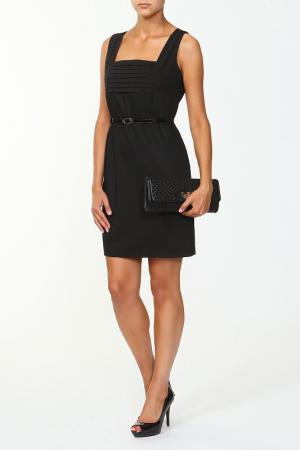 Платье с ремнем Edecesu. Цвет: черный