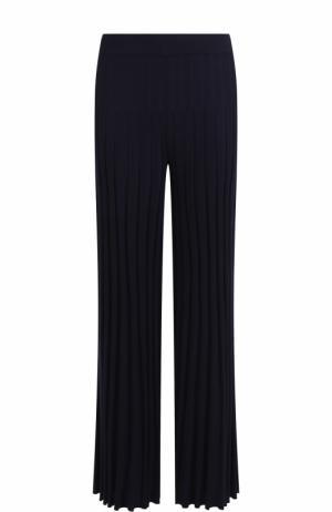 Шерстяные плиссированные брюки MRZ. Цвет: темно-синий