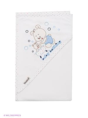 Полотенце Bebitof Baby. Цвет: белый, голубой