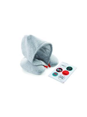 Подушка для путешествий  Chill Out Donkey. Цвет: серый