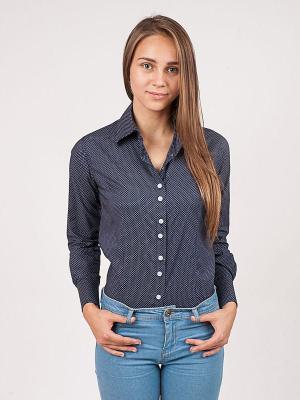 Рубашка Magnetiq. Цвет: синий, белый