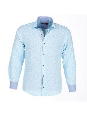 Рубашка BAWER. Цвет: голубой