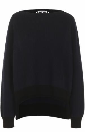 Пуловер свободного кроя с вырезом-лодочка Helmut Lang. Цвет: темно-синий